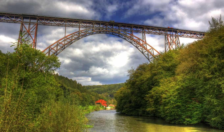 мост, природа, miriadna, река, high, locality, photography, size, категория,