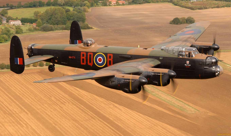 lancaster, bbc, avro, самолёт, second, world, бомбардировщик, time, войны, был,