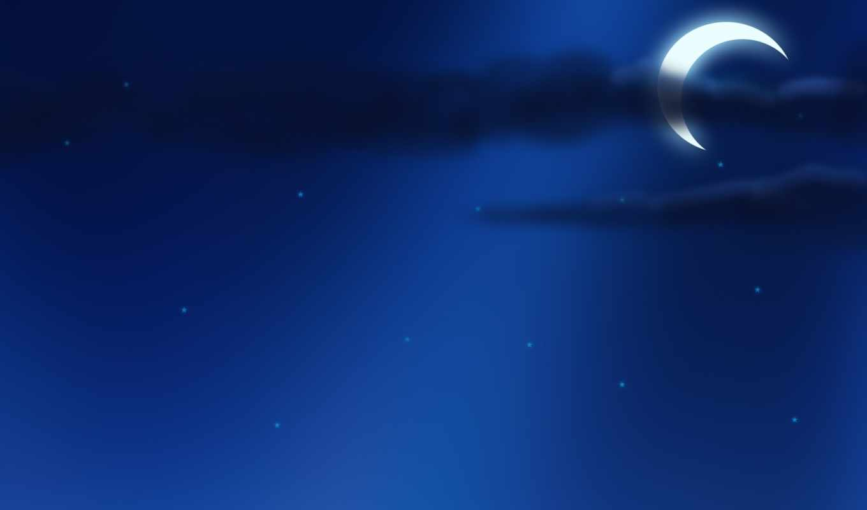 луна, небо, ночь, звёзды, картинка, картинку, кнопкой,