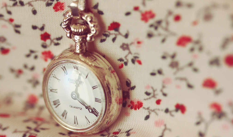 часы, макро, время, цепочка, циферблат, цветочки, watch, кнопкой,