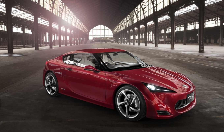 ft, concept, sports, ангар, красный, car, desktop,