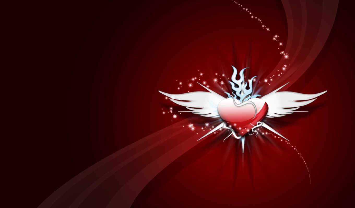 heart, aripi, cu, inima, шлейф, крылья, wings, wallpapere, with, abstract, love, крылатое, спартак, day,