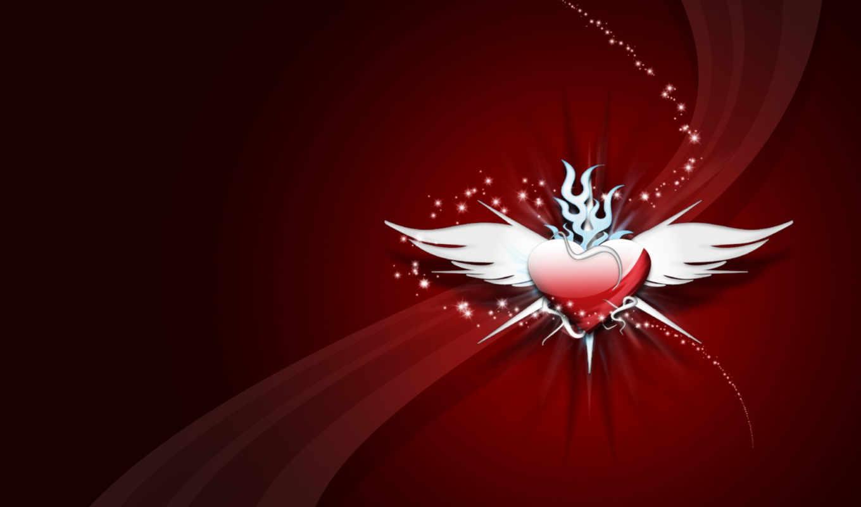 heart, aripi, cu, inima, шлейф, крылья, wings, wallpapere, with, abstract, love, крылатое, спартак, day,