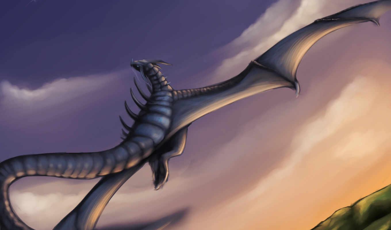 art, dragon, категории, skyrim, frost,