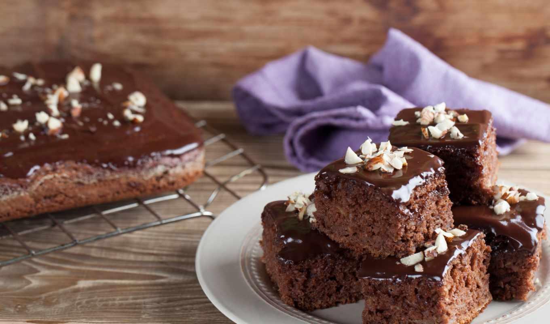 ,торт, шоколадный, кусочки