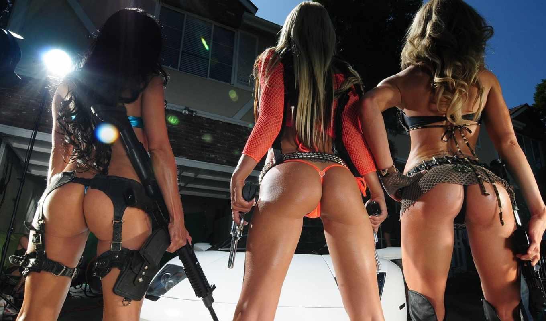 банка, devushki, les, pour, оружием, sexy, guns, iphone, девушка,