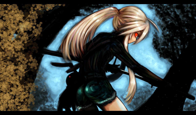 аниме, обои, девушка, обоев, воин, самурай, hd, ru