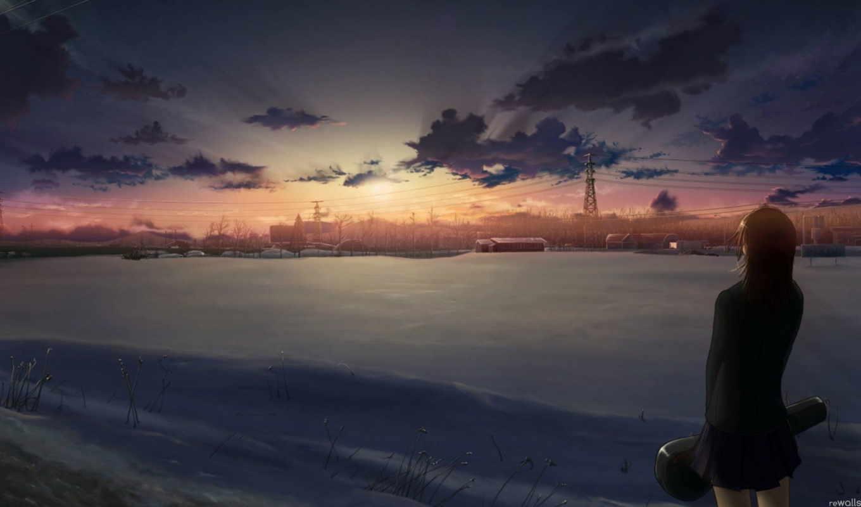 аниме, anime, красивые, песочница, подробнее, обои