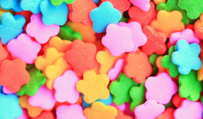звёздочки, разноцветные