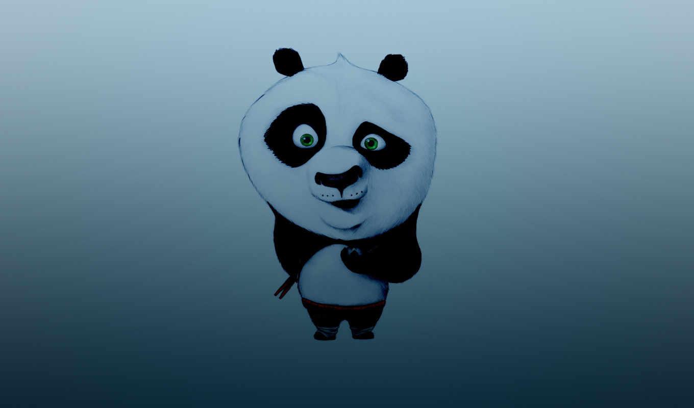 panda, кунг, фу, палочки, пельмень, темно, синий,