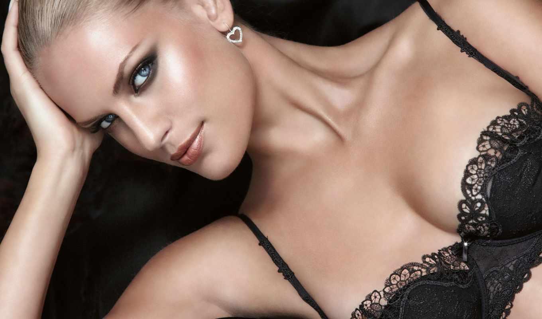 кружева, белье, black, грудь,