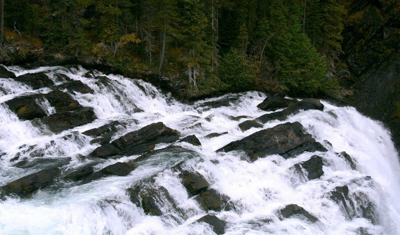 красивые, зимние, пейзажи -, фотографий, водопад, priroda,