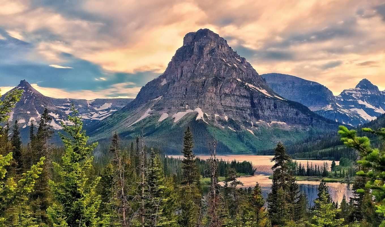 природы, mountain, различные, места, glacier, sinopah, national, удивительной, послужат, park, оформлением, landscape, компьютера, озеро, rar, горы, desktop, hdr,