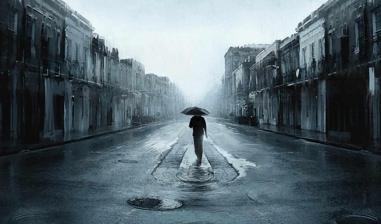 мужчина, дорога, дождь, you, улица,