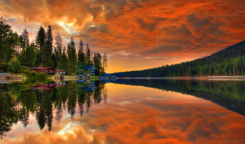 природы, прекрасными, закат, природа, уголками, rar,