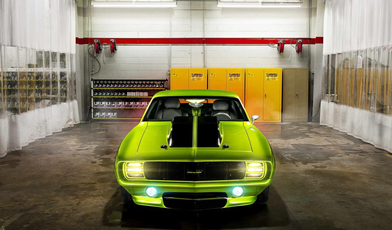 chevrolet, гараж, камаро, шевролет, camaro, картинка, car, muscle,
