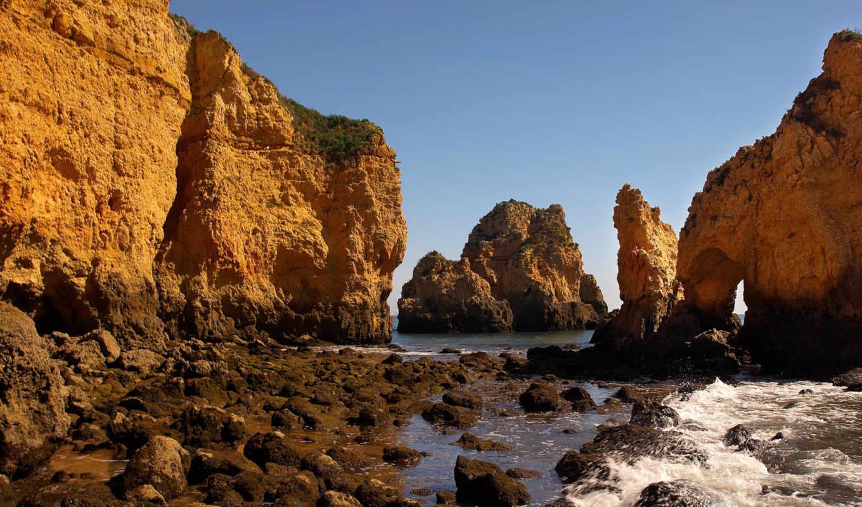 море, скалы, волны, скал, просмотров, разбиваются, близко, подробнее, камни, elvi,