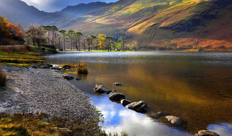 природа, горы, landscape, озеро, paste, картинка, ночь, зубная,