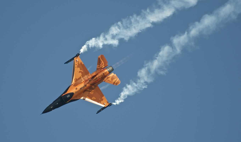 самолёт, небо, поворот, истребитель, нидерланды, авиация, реактивный,