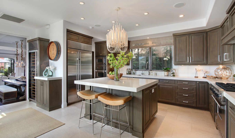 design, kitchen, интерьер, люстра, escritorio, para, gratis, fondos,