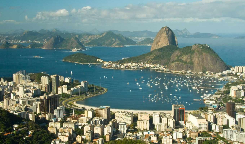 rio, janeiro, brazil, город,