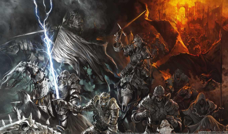 нежить, войны, армия, всадники, кони, скелеты, мечи, мертвых, art, ведьмак, armour,