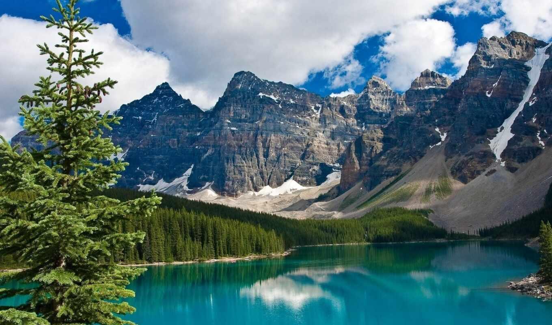 scenery, озеро, утро, manzara, emerald, güzel, duvar, mount