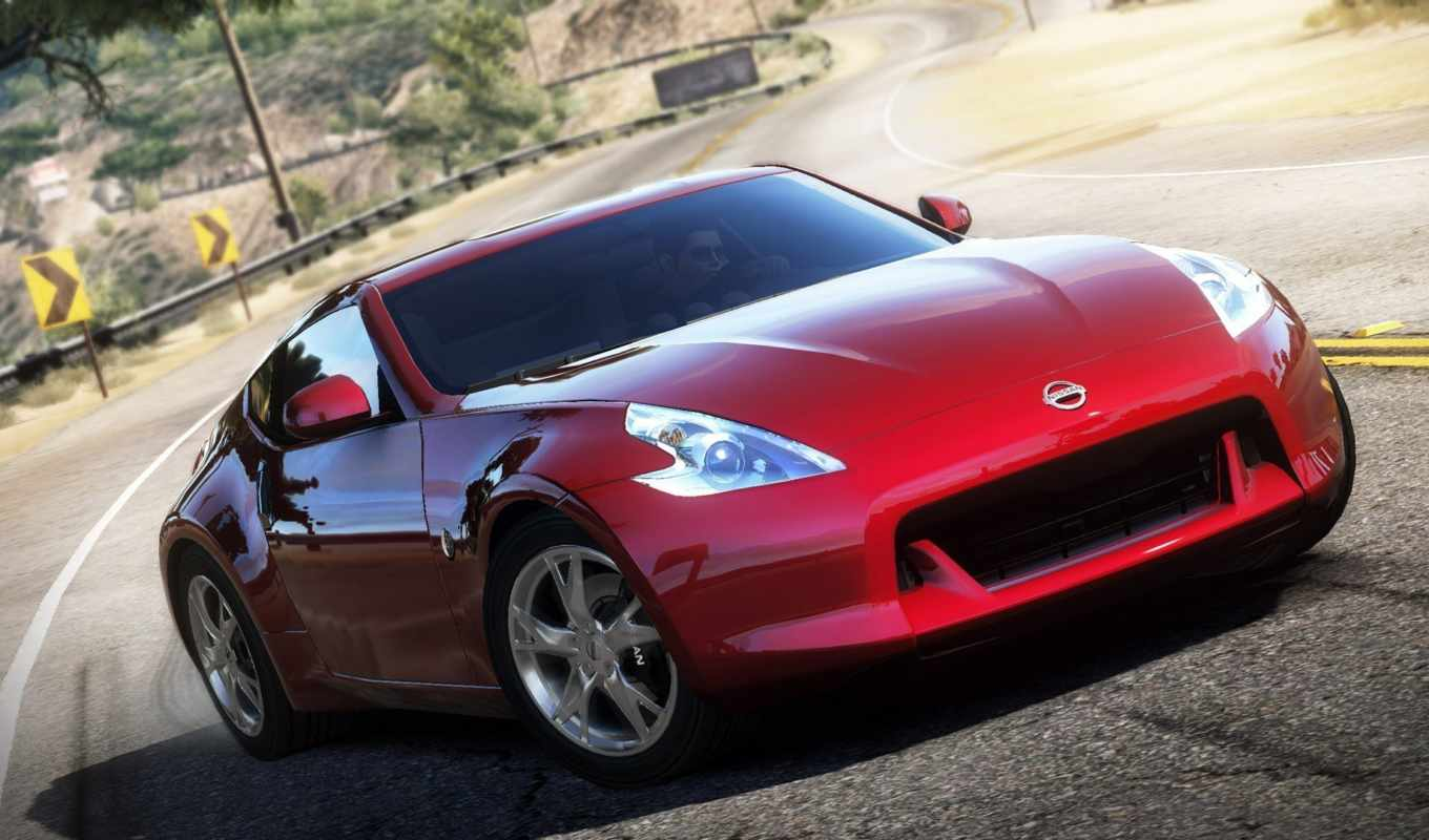 speed, need, hot, pursuit, гонка, nissan, дорога, игры, der, pc,
