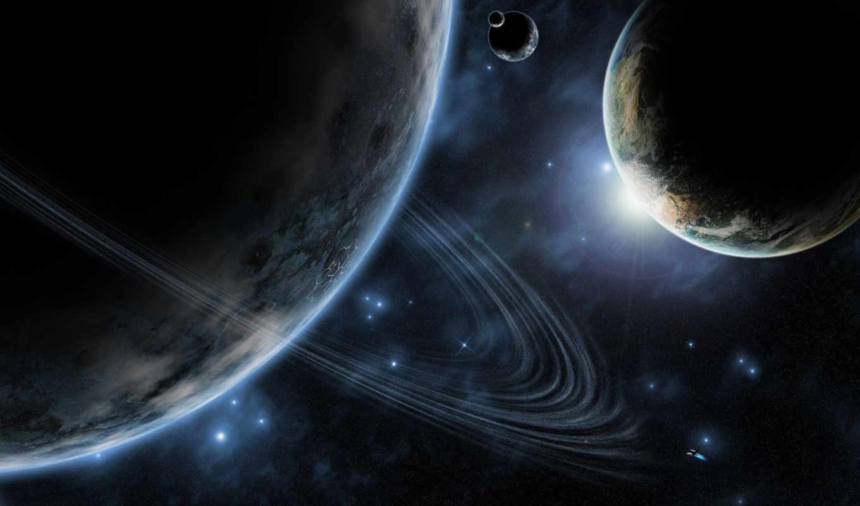 планеты, космос, кольцо, звезды, planets, планета, ледяная, photos,