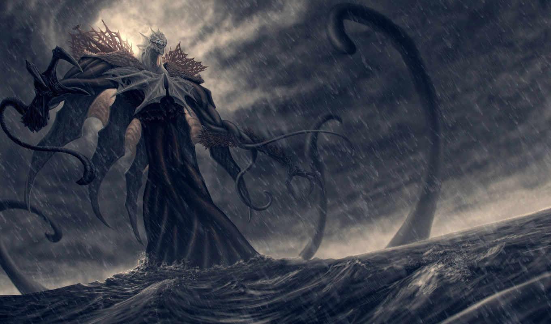 monster, ocean,