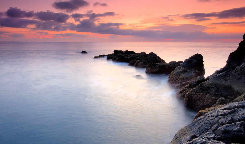 природа, красивый, elements, landscape, foggy,