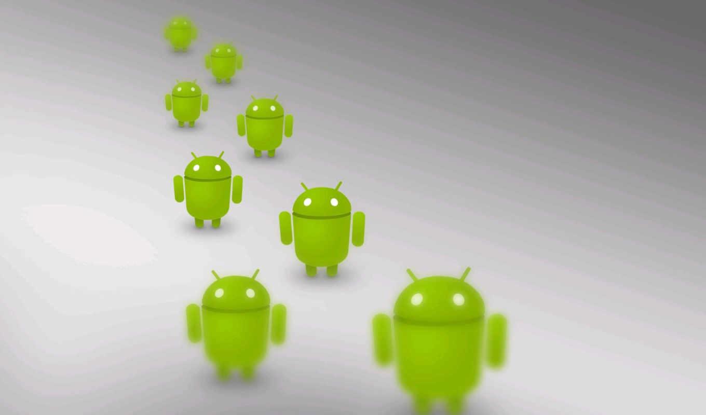 android, белый, зелёный, ряд