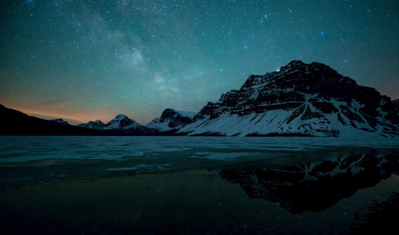 млечный, путь, озеро, со, desktop,