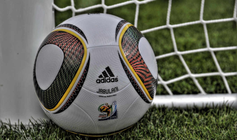 газон, сетка, штанга, ворота, трава, мяч, поле, adidas, jabulani, fifa, cup, world,