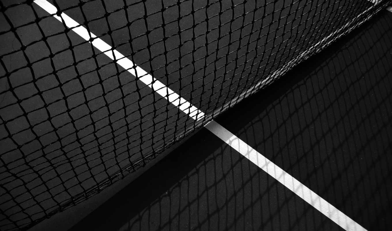 теннис, большой, сетка, спорт, тенис, ракетка, просмотреть,