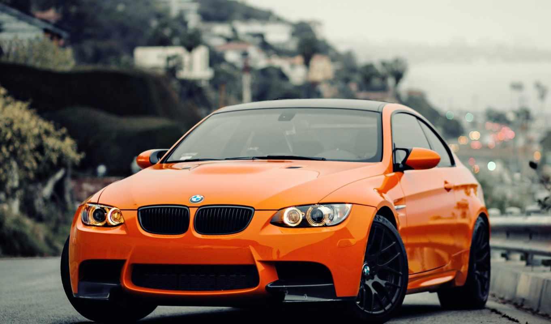 bmw, машины, оранжевый,