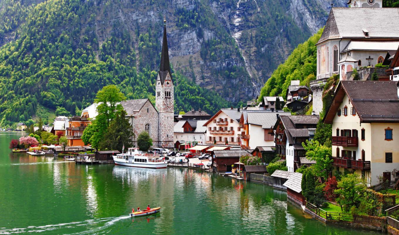австрия, гальштат, hallstatt, sterreich, salzkammergut, картинка,