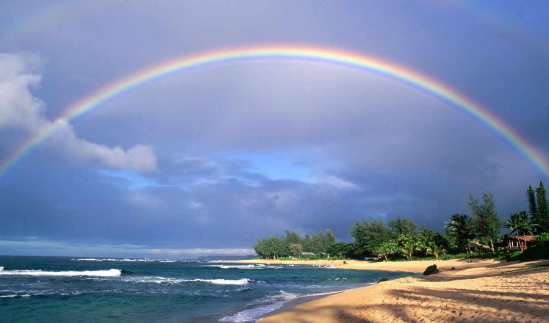 ,море,радуга,берег,пляж