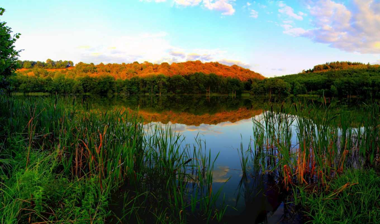 реки, картинка, природа, мб, германия, количество, качества, трава, high, elements,