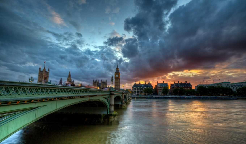 london, westminster, англия, мост, thames, великобритания, река,