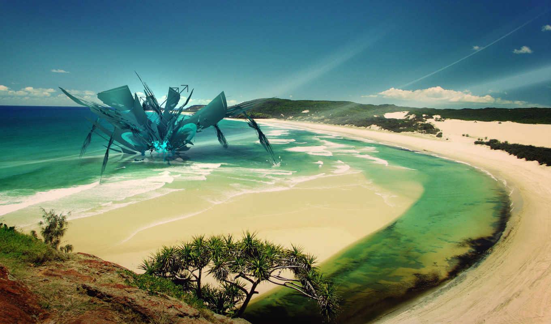 art, abstract, пляж, fantasy, desktop, free, digital,