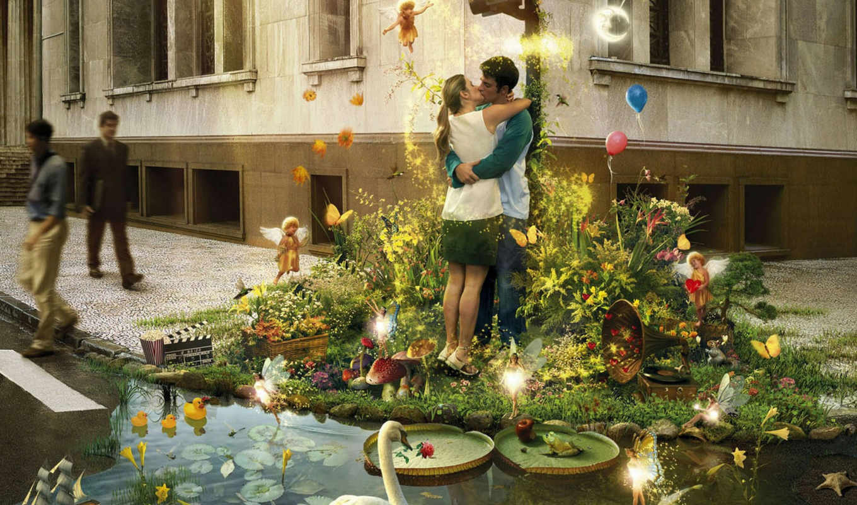 love, kissing, couple, код, que, цветы, amor, улица,