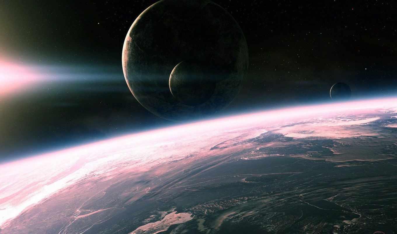 космос, свет, поверхность, планеты, planets, outer,