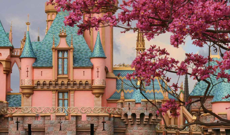 красавица, castle, sleeping, disneyland,