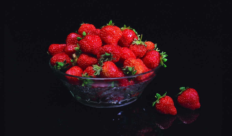 клубника, еда, фрукты,