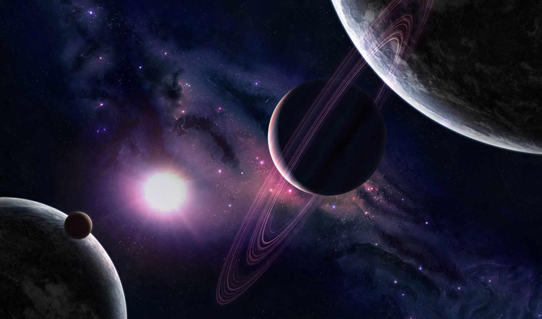 космос, звезды, свет, планеты, янв, свечение, planet,
