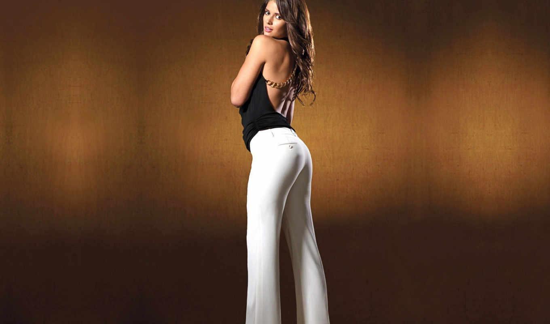 devushki, брюки, девушка, спина, попы, брюках,