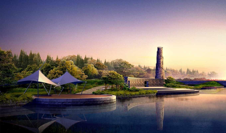 пейзажи -, китая, природа, landscape,