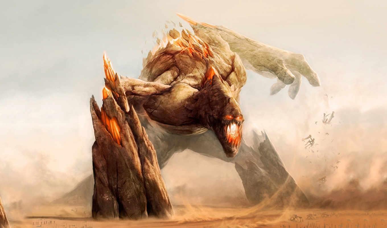 rock, titan, desktop, каменный, artwork, image, monster, подборка, earth, rift, colossus, art, general, free, next, огромный, голем,