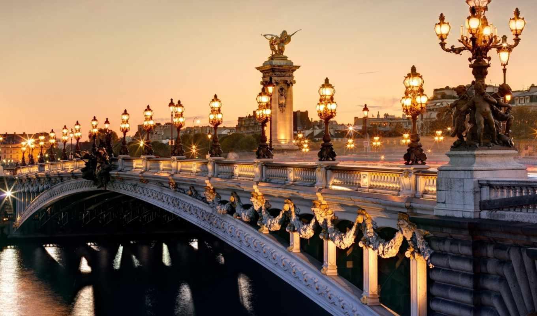 iii, париж, мост, александра, france, alexandre, pont, pic, city,